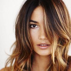 dark brown hair color with highlights Dark Brown Hair Color Shows Your Bright Skin Color