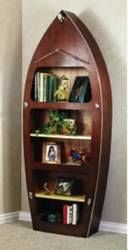 19-W2272 - Speed Boat Bookshelf Woodworking Plan