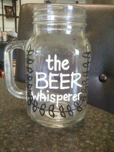 Hand painted beer mug