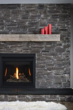 Inspire your fireplace! Stunning thin stone veneer to inspire any renovation. Find your perfect stone today. Stone Veneer Panels, Thin Stone Veneer, Natural Stone Veneer, Gas Fireplace, Fireplace Ideas, Fireplaces, Fireplace Gallery, Manufactured Stone Veneer, Grey Houses
