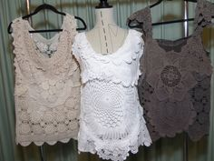 Chriss Creations Doiley vests