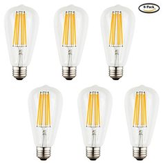 Voness Vintage LED Filament Light Bulb ST65 6w LED Classic Edison Bulb 60W Incandescent Replacement,120VAC,E26 Medium Base, Non-dimmable £¬Yellow Warm Soft Color,2700K,(6-PACK) VONESS http://www.amazon.com/dp/B018G31PCY/ref=cm_sw_r_pi_dp_yWnHwb1XYJHGS