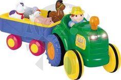 Kiddieland Activity traktor se zvířátky a zvuky