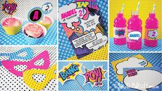 Superhero Girl Printable Party Package by Sour Punch Studio