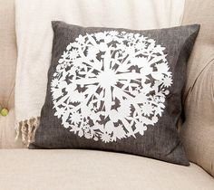 DIY Floral Doily Pillow made with Cricut Iron-on. Make It Now in Cricut Design Space