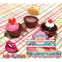 Yum! Cupcake lip gloss.