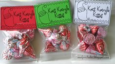 Christmas Treat Bag Topper Labels Digital File by themudpiestudio
