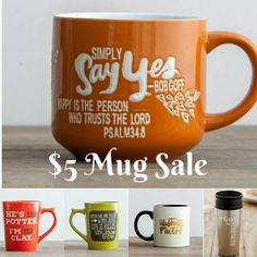 $5 Mugs. These mugs from Dayspring are designed with inspirational quotes.   #Promoted #Sponsored #Affiliate #Paidad #coffeemug #coffeecup #inspirationalgifts #inspiration #gifts #Christ #Christmas #sale #Thanksgiving #holiday #BlackFridaysale
