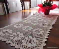 Blog da Bete Artesanatos: Toalha de Mesa em  Crochê