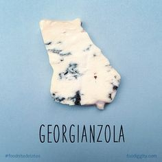 GEORGIA – Georgianzola. Artist Reimagines All 50 States As Food Puns http://justsomething.co/artist-reimagines-50-states-food-puns-tunassee-best-ever/ The complete gallery is on Facebook https://www.facebook.com/foodiggity/photos/a.10152566749216753.1073741843.136496826752/10153673596101753/?type=3&theater By Chris Durso of Foodiggity.