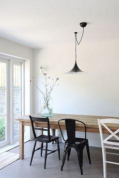 mix and match dining set up   house inspiration   interiors   pendant light