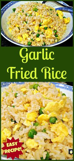 Make some delicious Garlic Fried Rice! I make this often, it's quick, easy and of course super tasty! Yummy Chinese food at it's best!