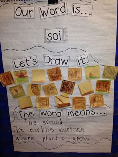 "Concept & Vocabulary Instruction: Chalk Talk: A Kindergarten Blog: What's the ""Dirt"" on Soil?"