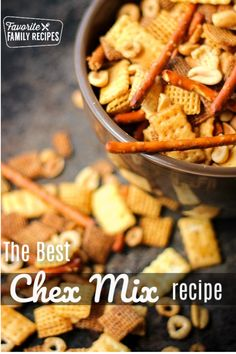 This Game Night Chex Mix is the perfect snack for family get togethers. It is toasty and savory and addicting! So much better than store bought! Chex Mix Recipes, Snack Recipes, Cooking Recipes, Yummy Snacks, Appetizer Recipes, Yummy Treats, Easy Recipes, Homemade Chex Mix, Easy Fruit Dip