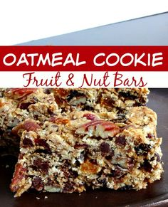 These Oatmeal Cookie Fruit & Nut Bars make the perfect snack! They're great for on the go or at home!