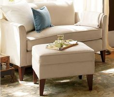 marcel mini sofa with ottoman from pottery barn