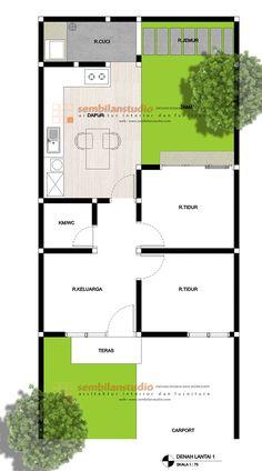 desain minimalis – Page 2 – sembilanstudio House Layout Design, Home Room Design, Home Design Plans, House Layouts, Modern House Design, Family House Plans, Small House Plans, House Floor Plans, House Blueprints