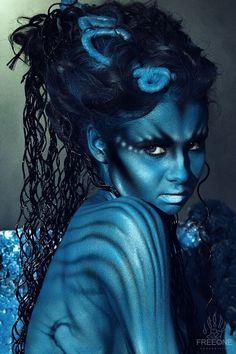 Image result for body paint portraits alien
