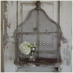Old wire bird cage