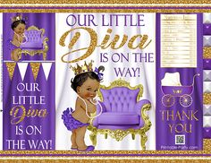 Printable Potato Chip Bags | Girl Royal ... Royal Princess, Little Princess, Pretzel Bags, Princess Favors, Brochure Paper, Baby Shower Purple, Chip Bags, Candy Bar Wrappers, Girls Bags
