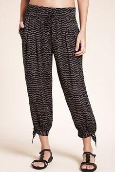 Animal Print Cropped Harem Trousers £25