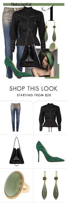 """""""shorthair"""" by neko-m-tucker-smith ❤ liked on Polyvore featuring Vivienne Westwood Anglomania, Denim & Supply by Ralph Lauren, 3.1 Phillip Lim, Christian Louboutin and Mallary Marks"""