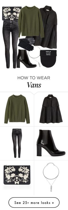 """Untitled #577"" by hadar777 on Polyvore featuring Yves Saint Laurent, H&M, Alexander McQueen, Toast, Lanvin, Vans, women's clothing, women's fashion, women and female"