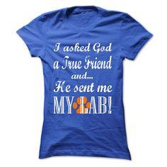 GOD SENT ME MY LAB T-Shirts, Hoodies. VIEW DETAIL ==► https://www.sunfrog.com/Pets/GOD-SENT-ME-MY-LAB-RoyalBlue-Ladies.html?id=41382