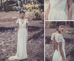 Lover of Lace ✈ Boho   Backless Wedding Dresses by Laure de Sagazan | Fly Away BrideFly Away Bride