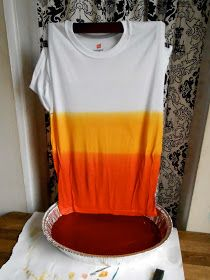 We Can Re-Do It: (Almost) Candy Corn Dip Dye T-Shirt