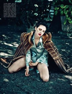 Asia Argento by Francesco Carrozzini for Vogue Italia