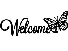 Welcome butterfly Metal Sign  Custom metal name by CandGMetalArt, $34.50