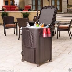 NEW Resin Wicker Inside /Outdoor Cooler or Patio,Pool  Furniture
