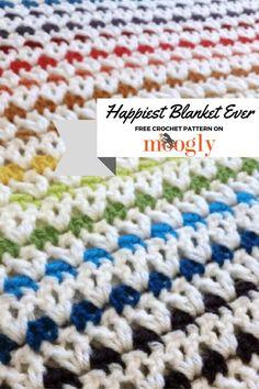 Happiest Blanket Ever - free crochet pattern.