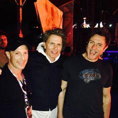 "Duran Duran (@duranduran) su Instagram: ""SLB & JT with super-agent Marc Geiger watching The XX at #Lollapalooza Sao Paolo TONIGHT.…"""
