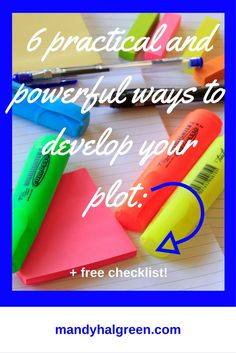 There are 6 ways to plan out your plot before you write your novel! Each method can be tailored to your needs and can take the pressure off creating your plot - view the full post for more! /mandyhalgreen/