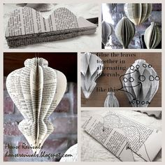 WABI SABI Scandinavia - one of Sweden's largest ad free design blogs.: Saturday's fav Christmas Paper Ornament Tutorial