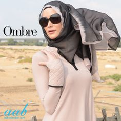 Ombré isn't just happening on your hair anymore, it's a trend that is seen all over... See our collection of amazing silk chiffon hand-dyed hijabs. SHOP NOW : http://www.aabcollection.com/shop/category/scarves-luxury-hijabs/127