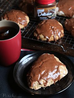 Banana Oat Scones With Delicia Glaze