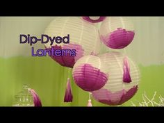 How To Dip Dye Paper Lantern Decorations Lantern Decorations, Paper Lanterns, Dip Dyed, Cubbies, Accent Colors, Colorful Rugs, Natural Wood, Tabletop, Creative Ideas