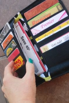 Card wallet tutorial i need this for my reward cards totes and fabric card wallet reheart Images
