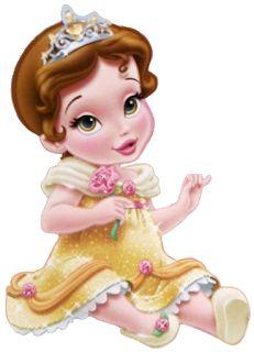 Disney Little Princess Baby Images On A Transparent Background Disney Princess Belle, Princesa Disney Bella, Disney Princess Toddler, Disney Princess Birthday, Disney Princesses, Disney Babys, Cute Disney, Disney Art, Disney Cartoon Characters