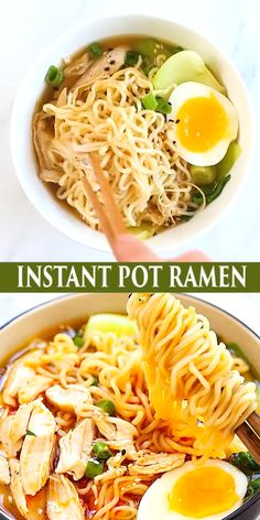 This Instant Pot Ramen is delicious, with tender chicken, gooey ramen eggs and vegetables in a hearty chicken soup. Spice up the ramen noodles with chili oil for an extra kick. This is comfort food in a jiffy and takes only 15 mins in the pressure cooker.