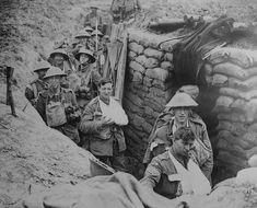 The History Place - World War I Timeline - 1916 - Wounded British in a Trench