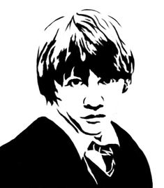 Some stencils i made of Harry Potter characters. Never tried making stecils before, was fun Ron Weasley Stencil Harry Potter Stencils, Harry Potter Clip Art, Harry Potter Pop, Making Of Harry Potter, Harry Potter Artwork, Harry Potter Drawings, Harry Potter Images, Hogwarts Silhouette, Harry Potter Silhouette