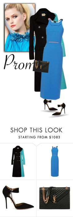"""""""Prom Do-Over: Your New Dream Dress"""" by bliznec-anna ❤ liked on Polyvore featuring FAUSTO PUGLISI, Roland Mouret, Aquazzura, Yves Saint Laurent, RolandMouret and promdoover"""