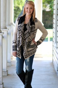 Fireside Cardigan- Black