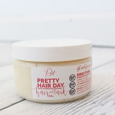 Our Pretty Hair Day Glossing Hair Mask provides a deep conditioning treatment & leaves your hair healthy, glossy & strong. Use it as a daily conditioner