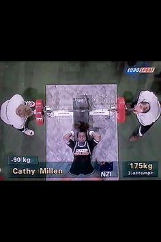 Cathy Millen NZ  BW 90kg class Weight 175kg World Bench Press Champs Finland 1994