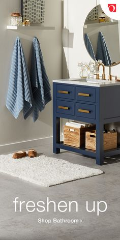 30 Inch Monarch Blue Single Sink Bathroom Vanity From The Madalyn Collection Guest Bathrooms, Bathroom Kids, Bathrooms Decor, Bathroom Furniture, Bathroom Interior, Single Sink Bathroom Vanity, Royal Bathroom, Little White House, Small Bathroom Storage